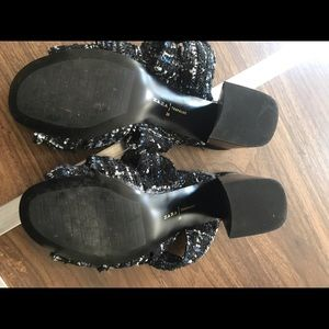 Zara Shoes - Zara tweed sandal size 39